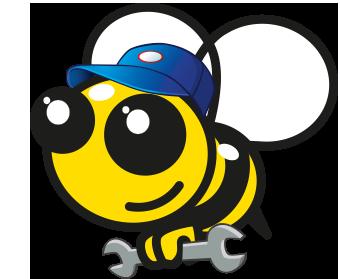 Pszczoła mechanik samochodowy